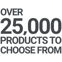 Over 25,000 products to choose from