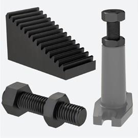 Clamping Supports, Step Blocks, Heel Pins & More