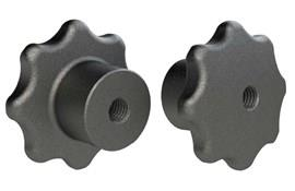 Hand Knob - Solid - Cast Iron - Imperial BSW or UNC  (WDS 108)