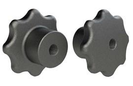 Hand Knob - Solid - Cast Iron - Metric  (WDS 108)