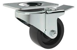 Top Plate Fitting Swivel & Brake Casters - Phenolic Resin Wheel (WDS 12187)