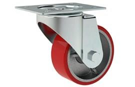 Heavy Duty Swivel Castors - Red Polyurethane Wheel (WDS 12320)