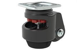 Plate Fitting Adjustable Leveling Casters - Finger Operated (WDS 12350)