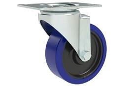 Top Plate Fitting Swivel Casters - Blue Rubber Wheel (WDS 12353)