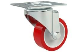 Top Plate Fitting Swivel Castors - Polyurethane Wheel with Nylon Center (WDS 12364)