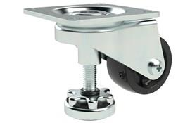 Adjustable Height Leveling Casters - Plate Fitting Finger Operated (WDS 12396)