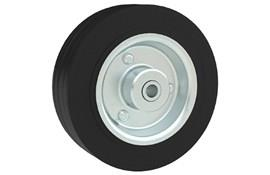 Rubber Wheels - Black Rubber with Steel Core (WDS 12410)