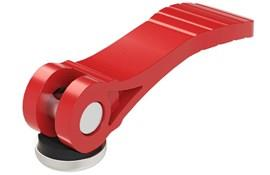 Cam Lever (Cam Clamp) Red Plastic Handle - Steel Washer (WDS 367)