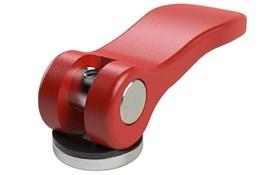 Imperial Inch Cam Lever (Cam Clamp) Stainless Female Thread - Red Aluminum Handle (WDS 369)