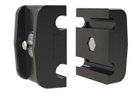 Double Round Guide Rails Clamp - No Rod (WDS 436)