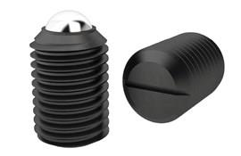 Strong Force Ball Spring Plungers - Threaded - Chemical black finish (WDS 606)