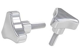 Tri-Knob with Threaded Stem - 316 Stainless Steel Polished (WDS 8147)
