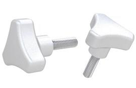 Tri-Knob with Male Thread - 316 Stainless Steel Matt (WDS 8147)