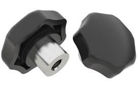 Scallop Hand Knob - Thermoplastic with Stainless Steel Insert (WDS 8161)