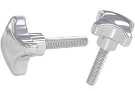 Threaded Hand Screw - Inch (UNC) 316 Stainless Steel - Polished (WDS 8205)