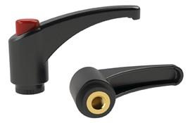 Clamping Lever - Thermoplastic - Red Knob (WDS 8237)