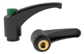 Clamping Lever - Thermoplastic - Green Knob (WDS 8237)