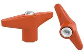 Indexing Clamping T Handle - Orange UNC Inch Female Thread (WDS 8243)