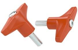 Indexing Clamping T Handle - Orange Inch UNC Male Thread (WDS 8244)