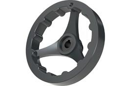 Polyamide Keywayed Hand Wheel - 3 Spoke with Bore for Grip (WDS 8404)