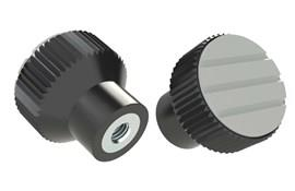 Knurled Knob - Pale Gray - Thermoplastic with Steel Insert (WDS 8440)