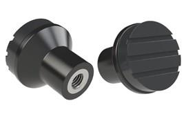 Mushroom Knob - Black Grey - Thermoplastic with 303 Stainless Steel Insert (WDS 8445)