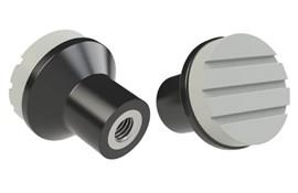 Mushroom Knob - Pale Grey - Thermoplastic with 303 Stainless Steel Insert (WDS 8445)