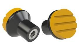 Mushroom Knob - Cadmium Yellow - Thermoplastic with 303 Stainless Steel Insert (WDS 8445)