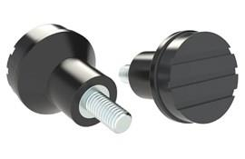 Mushroom Knob - Black Gray - Thermoplastic with Steel Screw (WDS 8445)