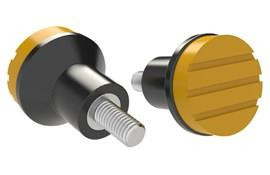Mushroom Knob - Cadmium Yellow - Thermoplastic with Stainless Steel Screw (WDS 8445)