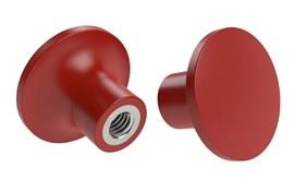 Red Pull Knob GRP with Stainless Steel Thread Insert (WDS 8462)