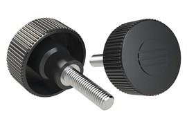 Knurled Hand Screw - Stainless Steel -  Black Gray (WDS 8485)