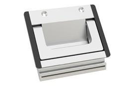 Screw Mounting Tray Handle with Folding Handle  - Natural Aluminum Finish (WDS 8561)