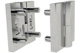 Stainless Steel Surface Mount Hinge with Studs - Polished Finish (WDS 8625)
