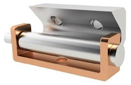 Aluminium Concealed Hinges - Weld-on Plate 110° Angle (WDS 8641)