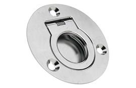 Round Finger Pull Recessed Handles - Spring-Loaded Return (WDS 8664)