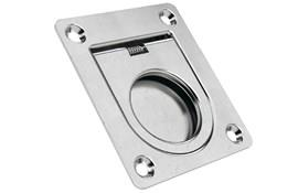 Square Finger Pull Recessed Handles - Spring-Loaded Return (WDS 8664)