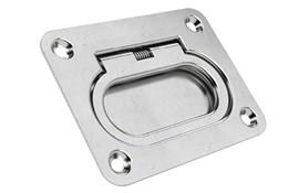 Rectangle Finger Pull Recessed Handles - Spring-Loaded Return (WDS 8664)
