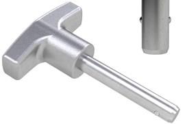 Detent Pin with 316 Stainless Steel Matt T-Grip Handle - Metric (WDS 960)