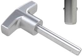 Detent Pin with 316 Stainless Steel Matt T-Grip Handle - Inch (WDS 962)