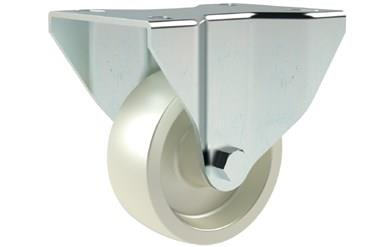 Top Plate Fitting Fixed Castors - White Nylon Wheel (WDS 12300)