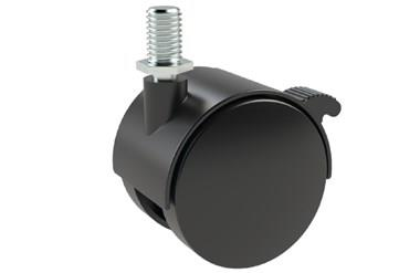 Screw Fitting Braked Furniture Castors for Chairs, Cupboards and Office Furniture (WDS 12316)