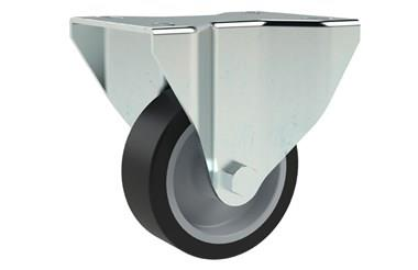 Top Plate Fitting Fixed Castors - Thermoplastic Rubber (WDS 12324)