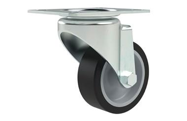 Top Plate Fitting Swivel Castors - Thermoplastic Rubber Wheel (WDS 12326)