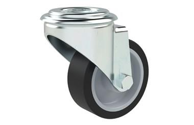 Bolt Hole Fitting Swivel Castors - Thermoplastic Rubber Wheel (WDS 12330)