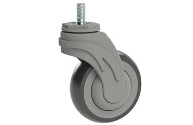 Rubber Castors with Plastic Body - Stud Fitting (WDS 12362)