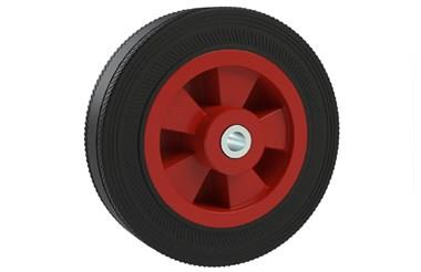 Rubber Wheels - Black Rubber with Red Polypropylene Core (WDS 12408)
