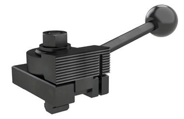 Cam Operated Edge Clamp with Serrated Jaw T Bolt Fitting - Left or Right Hand (WDS 216)