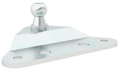 Gas Strut Mounting Bracket - Flat with Ball Stud (use with DIN71802 or DIN71805) (WDS 551)