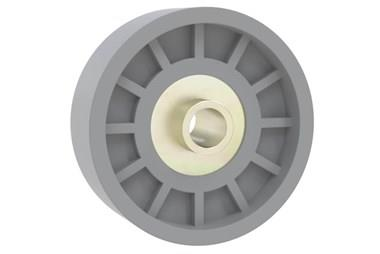Plastic Skate Wheels for Gravity Roller Conveyors - ABS Grey (WDS 565)